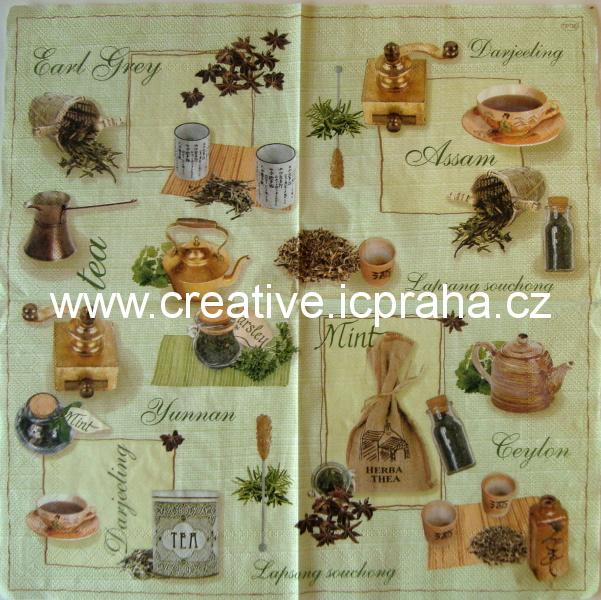 čaje bylinkové na zeleném MAKI