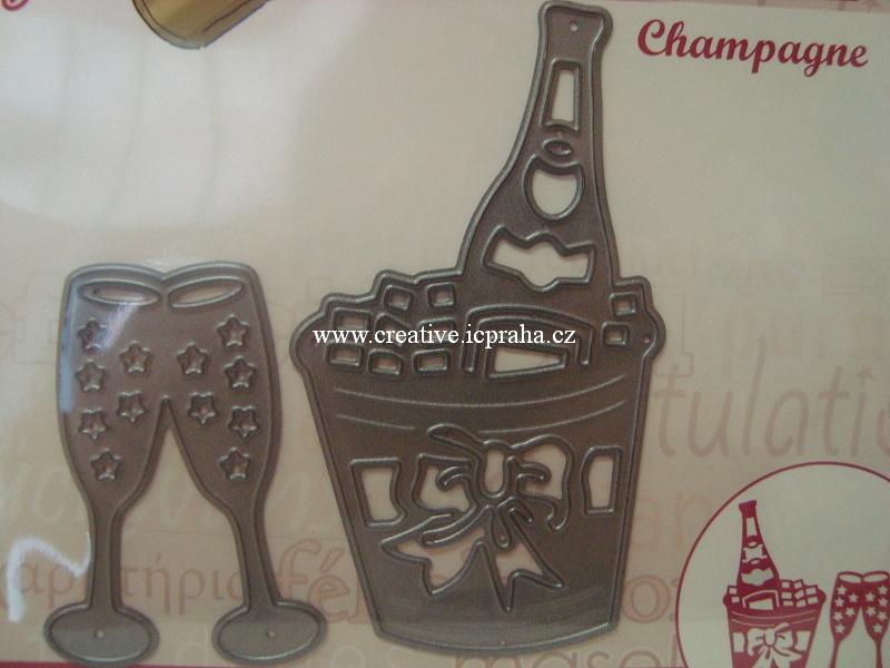vyřezávací šablona  YCD - Šampaňské 10046
