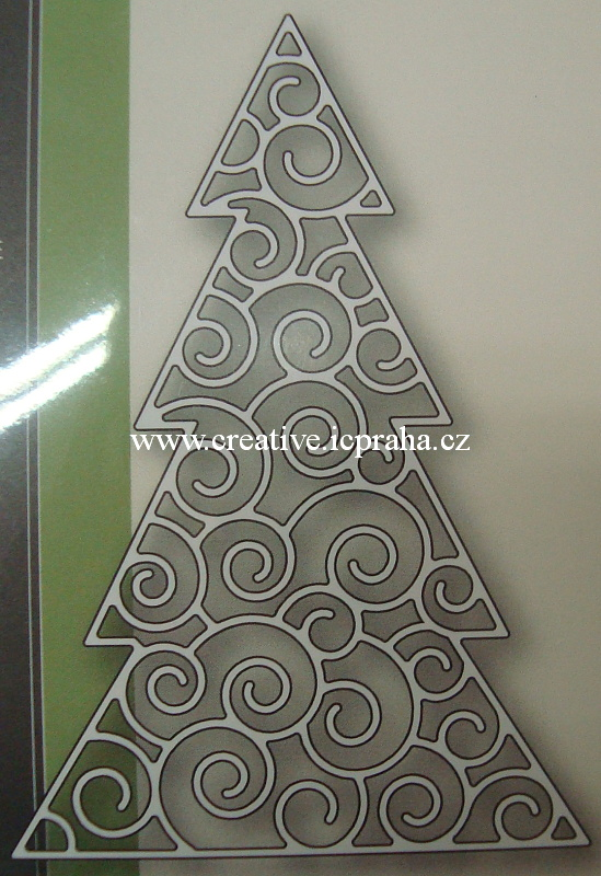 vyřezávací šablona  Poppy - Vánoční strom 1080