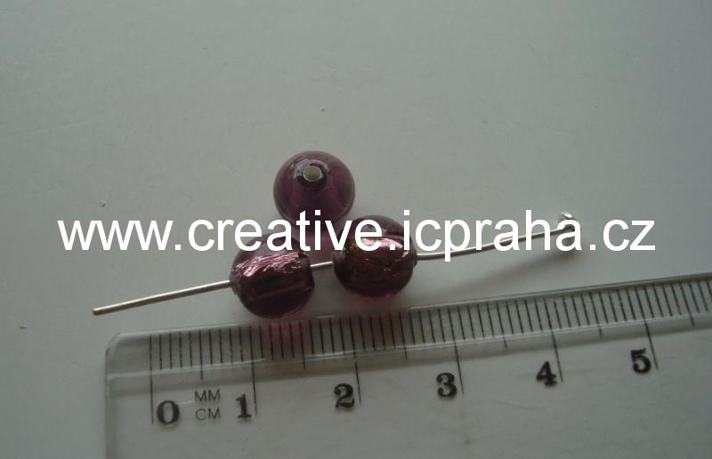 kulička fialová/stříbro 19016 8mm