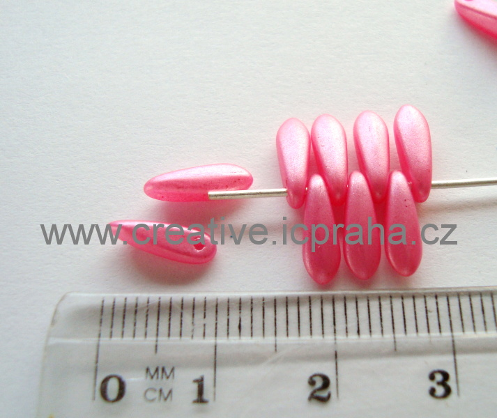 jazýčky 3x11mm růžové bal.30ks