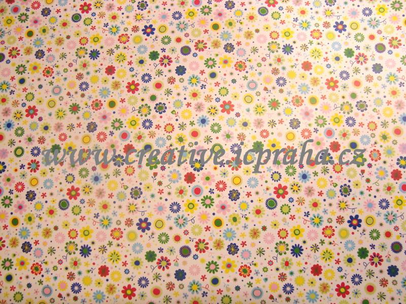 karton 300g/m2 50x70cm květiny mini  He