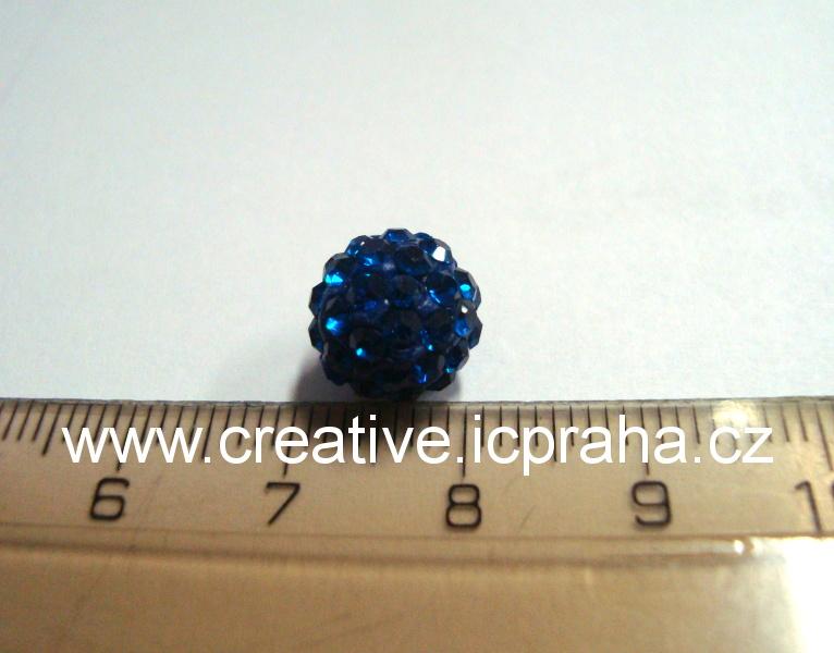 kulička se šatony 10mm - modrá tm. 10 BE